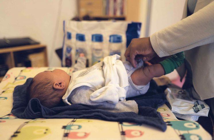 Baby på puslebordet. Foto: Keen Heick-Abildhauge